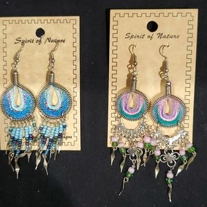 Handcrafted beaded earings from Peru.